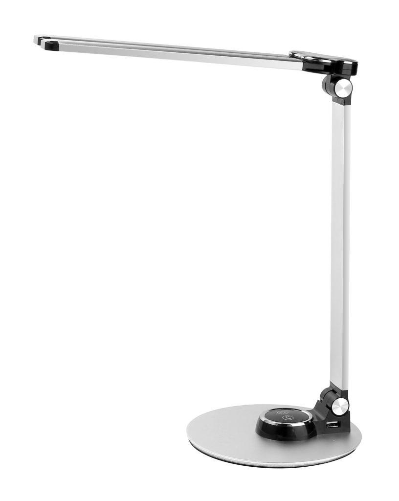 LEDデスクスタンド タッチセンサー調光機能 USB充電ポート付き